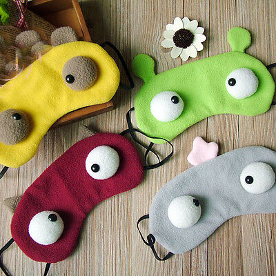 Cute Eye Mask Sleep Mask Padded Shade Travel Protection Design Comfortablet
