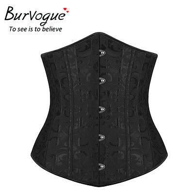 Women Steel Bone Underbust Corset Waist Training Cincher Corset Body Shaper