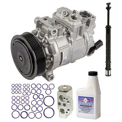 New Air Conditioning Compressor Kit - Genuine OEM AC Compressor & Clutch + More