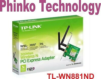 Brand NEW TP-Link TL-WN881ND WIRELESS N PCI-E 300Mbps ADAPTOR