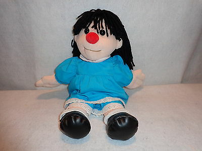 "PBS Kids THE BIG COMFY COUCH Stuffed Plush MOLLY Rag Doll 18"" Blue Dress 2002"