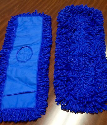 "Microfiber 24"" Slip Pocket Dust Mop Refills - 2 Blue"