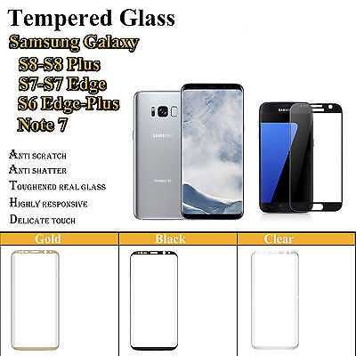 3D Full Coverage Tempered Glass Screen Protector for Samsung Galaxy S7/S6 Edge