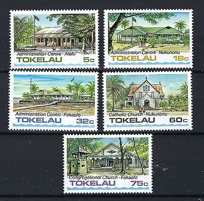 Tokelau 1985  Administrative Buildings And Church's. Post Free Uk Five Values