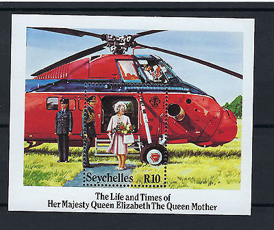 Seychelles Queen Mother Life And Times R10 Stamp Sheet Mnh Post Free To The Uk.
