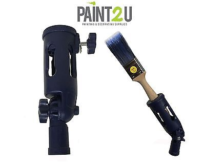 EXTENSION POLE PAINT BRUSH HOLDER | Screw On Paint Brush & Tool Holder Adapter