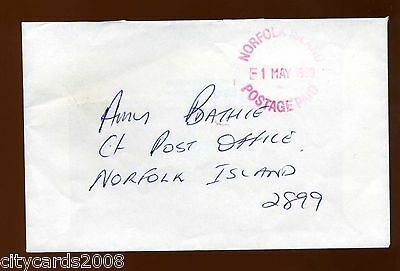 1998 NORFOLK ISLAND Postage Paid Cover sent internally