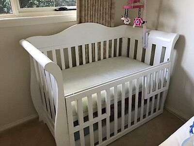 Deluxe Plus Sleigh Cot with Drawer and Mattress