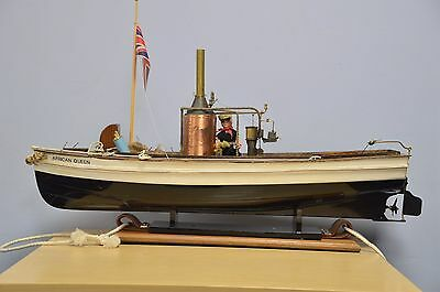 The African Queen remote control RC boat with stand
