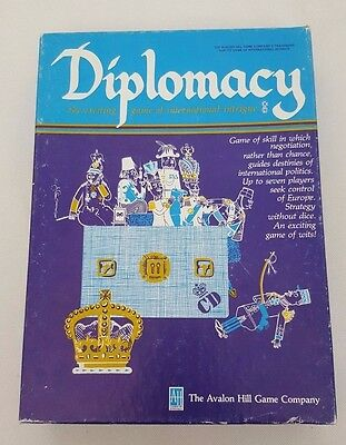 Diplomacy Board Game Vintage Avalon Hill Bookcase Game 1976 Complete