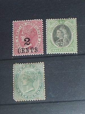 Queen Victoria Commonwealth stamps all mint (i do combine p&p)