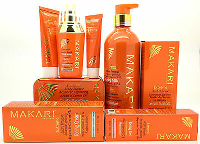 Makari Extreme Active Intense Argan Carrot Oil Toning Milk Cream Gel Serum Soap