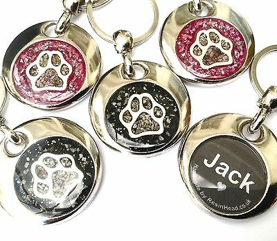 cremation jewellery for ashes memorial personalised double sided keyring