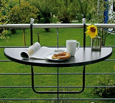 Balcony table Hanging table Butler folding half round anthracite