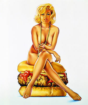 Mel Ramos Fine art Comic Girl Pin-Up Pop Bild 30x40 Collection canvas 10MR06