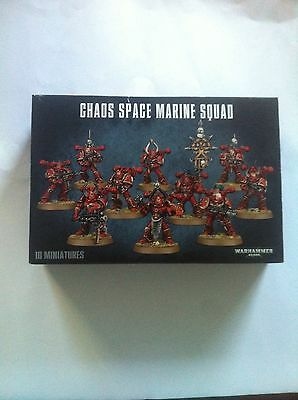 Warhammer 40k Chaos Space Marines Army Squad 10 Games Workshop Models NOS !!!