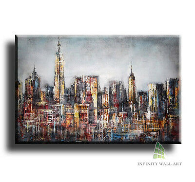 "20""X12"" Canvas Art Prints Abstract Landscape Framed Fine Art Picture GraphicxC14"