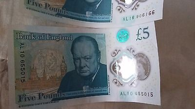 Muhammad Ali's collectable  fiver 2 of them