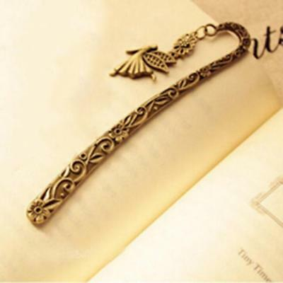 Creative Retro Vintage Metal Alloy Bookmark Document Book Label DIY Gift Popular