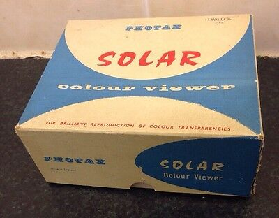 Photax Solar Colour Slide Viewer (Boxed) Requires New Bulb