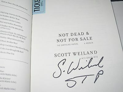 Scott Weiland Signed Not Dead Not For Sale Book Stone Pilots Autograph Proof