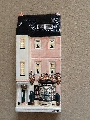 "Hazel Ceramics Nation Of Shopkeepers ""The Christmas Shop"" Perfect Condition"
