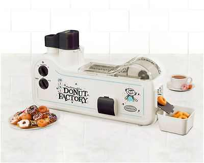 Nostalgia Automatic Home Donut Factory Maker Easy Electric Mini Doughnut Machine
