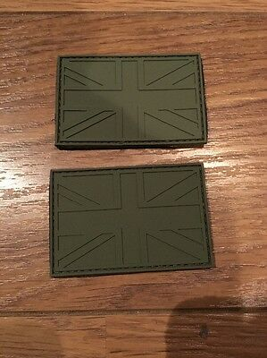 X2 Military Patch Union Jack Rubber