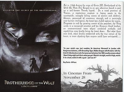 Brotherhood of the Wolf (2001 Movie Post Card) Australian issued