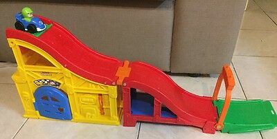 Fisher And Price Wheelies Garage Toy Car Track And Ramp