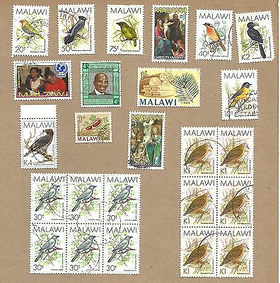Malawi: 25 used.stamps used + 3 TAXED covers - read notes) (Ref 587)
