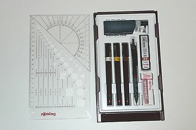 Rotring Isograph College Pen Set. 0.25,0.35 & 0.5mm/ Technical & Garden Design.