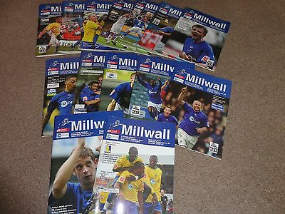 14 Millwall FC 2007/2008 home game programmes in good condition