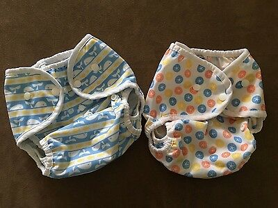 Thirsties Duo Wrap Snap size 2 Cloth Diaper Cover - Lot of 2