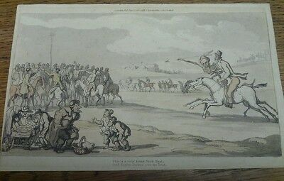 R Ackermans Georgian Hand Coloured Comical Etching Published 1815