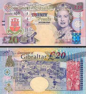 Gibraltar- 2004 £20 Bank Note (UNC)