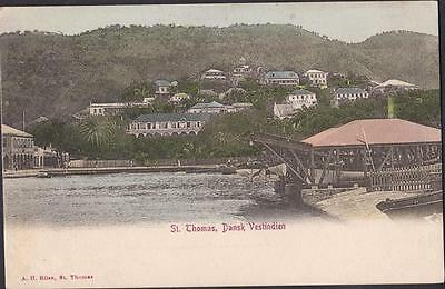 Danish West Indies- Old Postcard St Thomas