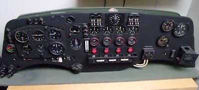 WW2 RAF Short Sunderland Aircraft Pilot's Instrument Panel – With Instruments