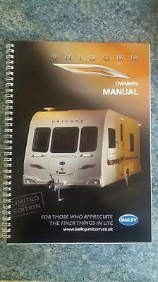 Bailey unicorn caravan owners manual