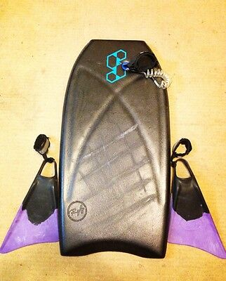 """Science Bodyboard 39"""" with Limited Edition Fins medium (US 7-9)"""