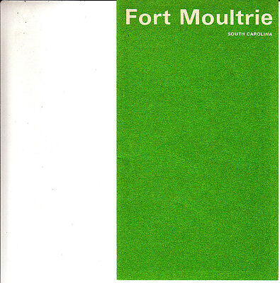 Fort Moultrie South Carolina 1970 Small Vintage Brochure