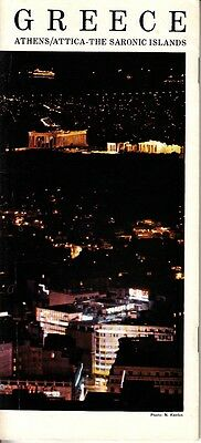 Greece Athens Attic The Saronic Islands Hotels Photos 1970 Vintage Booklet