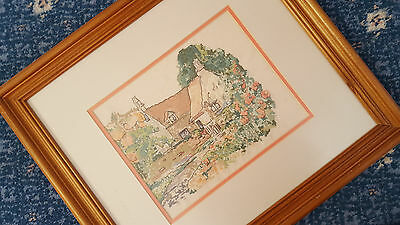 Cross stitch picture framed