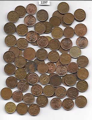 World x 70  SMALL  Bronze Coloured Coins