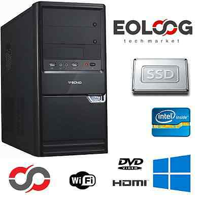 PC DESKTOP COMPUTER FISSO INTEL CORE i5 RAM 8 GB SSD + HDD 500 WINDOWS ORIGINALE