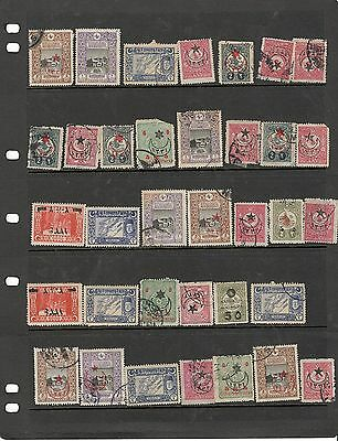 hl14 Turkey stock page 35 stamps mixed condition