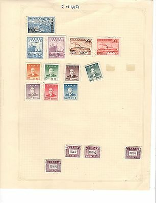 hl26 China album page 16  stamps mixed condition