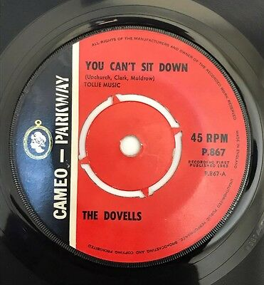 The Dovells You Can't Sit Down Original Uk 45 Cameo 1963!!!