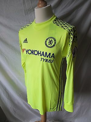 Chelsea 2016/17 Home Goalkeeper Shirt GK + EPL Patches  Mens Small Large & XL