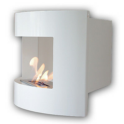 Bio Ethanol Fire Place RIVIERA DELUXE CORNER White Wall Fireplace + 1 Firebox